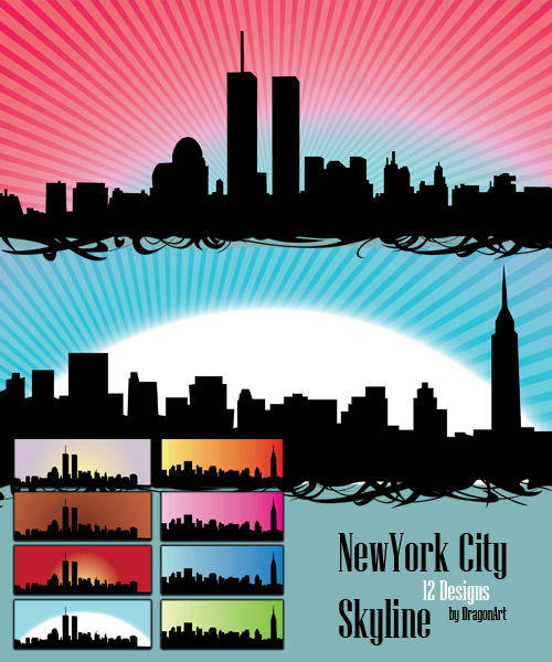 free vector Skyline US NewYork City Vectors