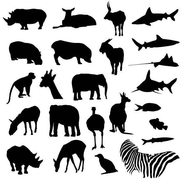free vector Free Vector Pack - Safari and Zoo Animals
