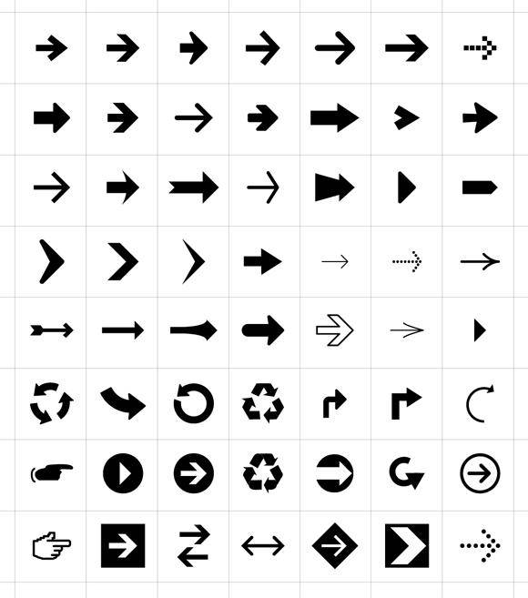 56 Free Arrow Symbols & Icons