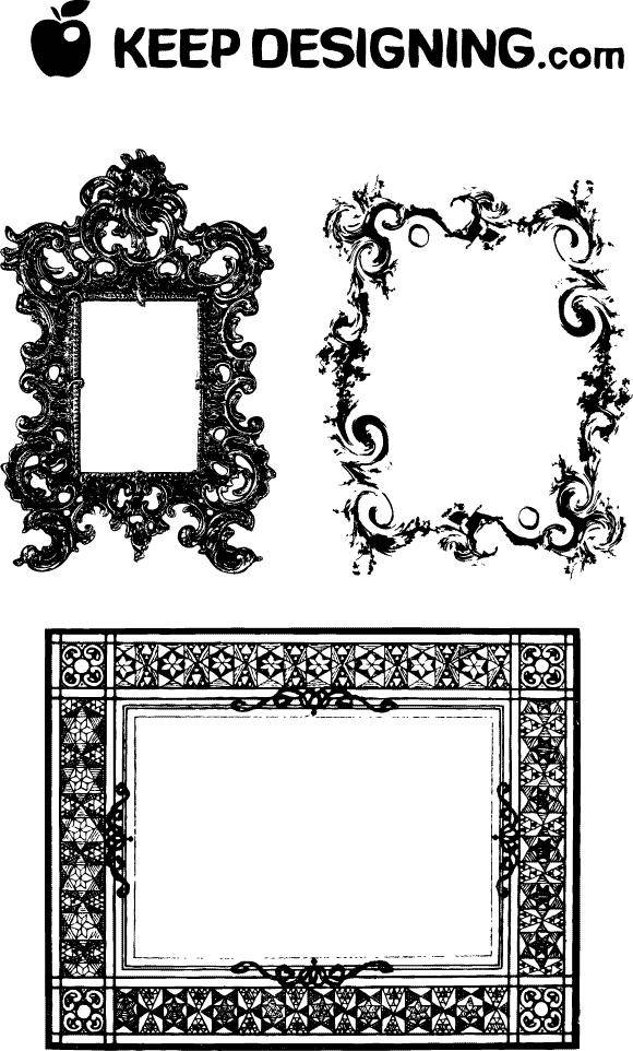free vector Fancy Frames & Ornate Borders