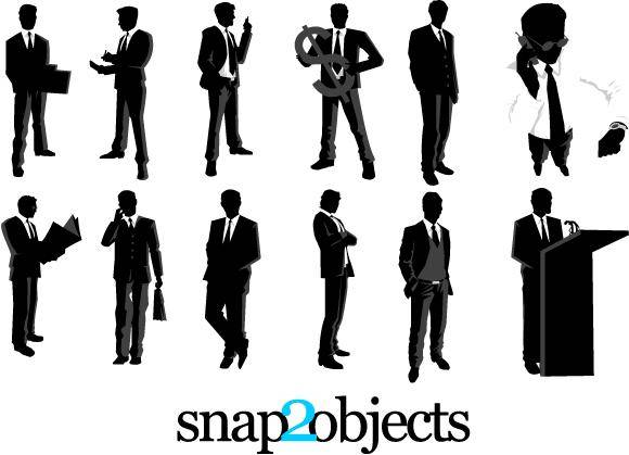 12 Free Vector Businessman Silhouettes