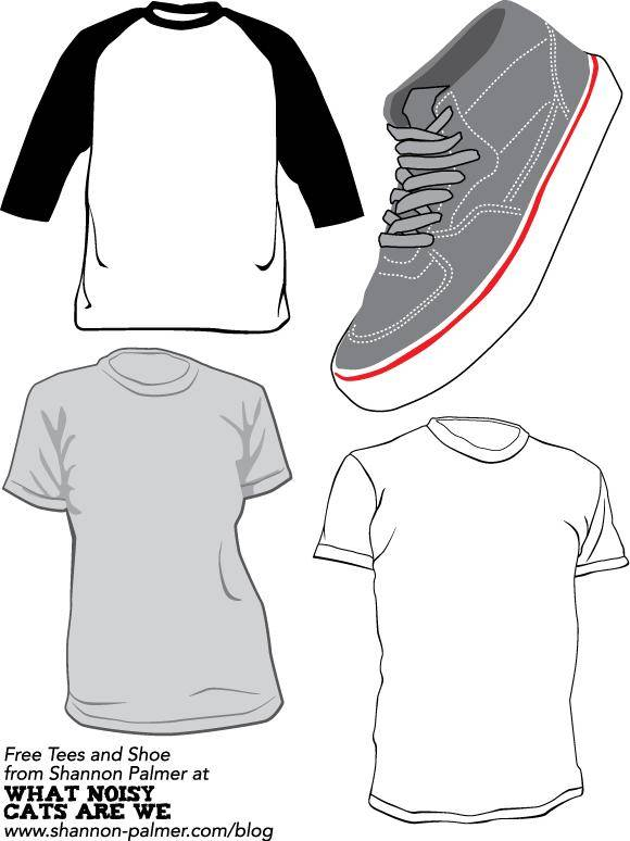 Free Vector T-Shirts and Sneaker