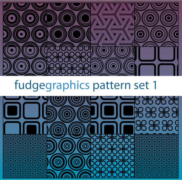 free vector Pattern Set 1