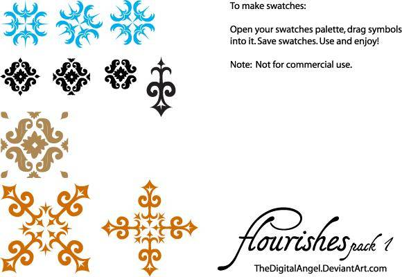 free vector Flourishes Pack 1