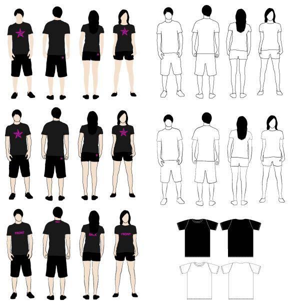 free vector T-Shirt Models 2