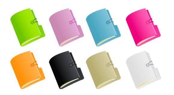 8 Vector Document Folders