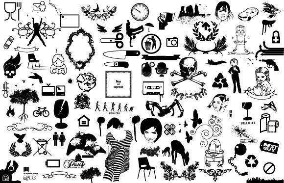 Stationery vector Free Vector / 4Vector