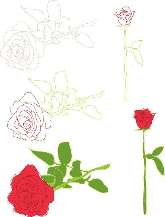 FREE VALENTINES VECTORS & ROSES