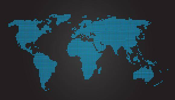 free vector World Map Dotted