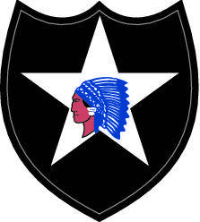 free vector Second Infantry Division Crest Vector