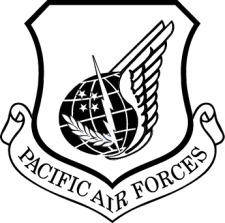 free vector Pacific Air Forces Vector Crest