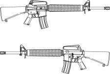 free vector Rifle M-16 Vector Image