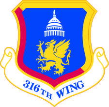 free vector Coat Of Arms 316th Wing Shield