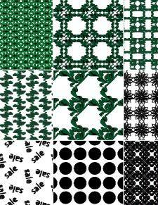 Decorative Seamless Vector Pattern Set